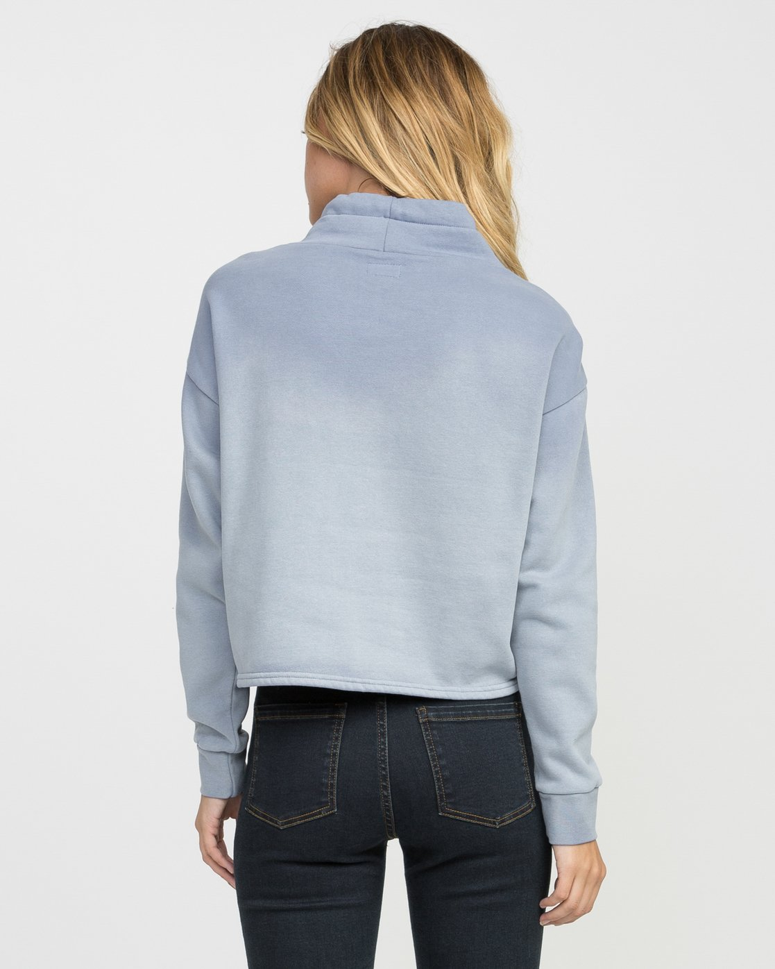 2 Smudged Cropped Pullover  WMFF02SM RVCA