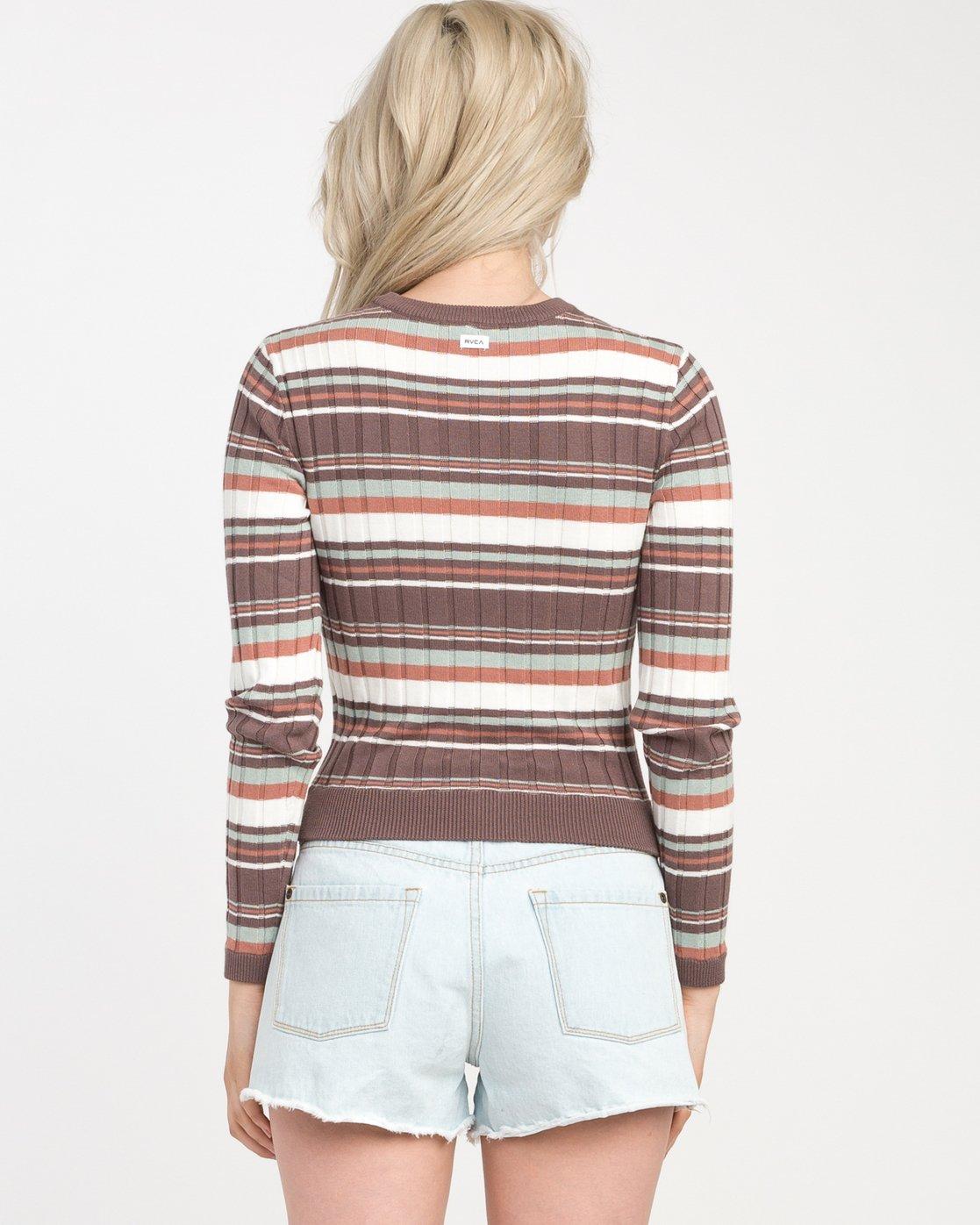 2 Sally Striped Knit Sweater  WV01NRSA RVCA