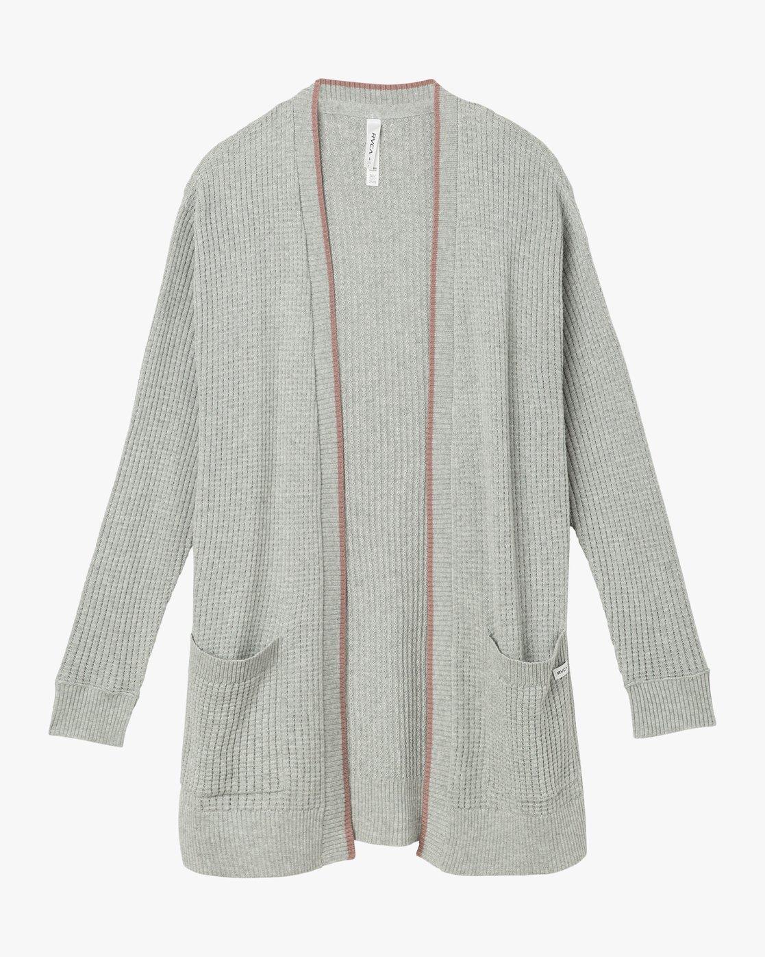 5 Lesson Knit Open Cardigan  WV02NRLE RVCA