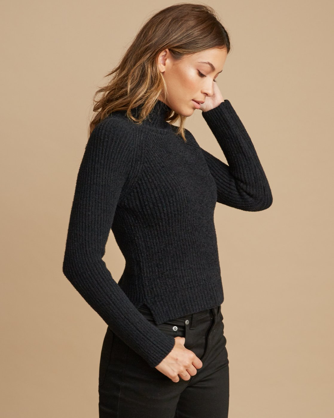 2 Oracle Ribbed Sweater Black WV02SROR RVCA