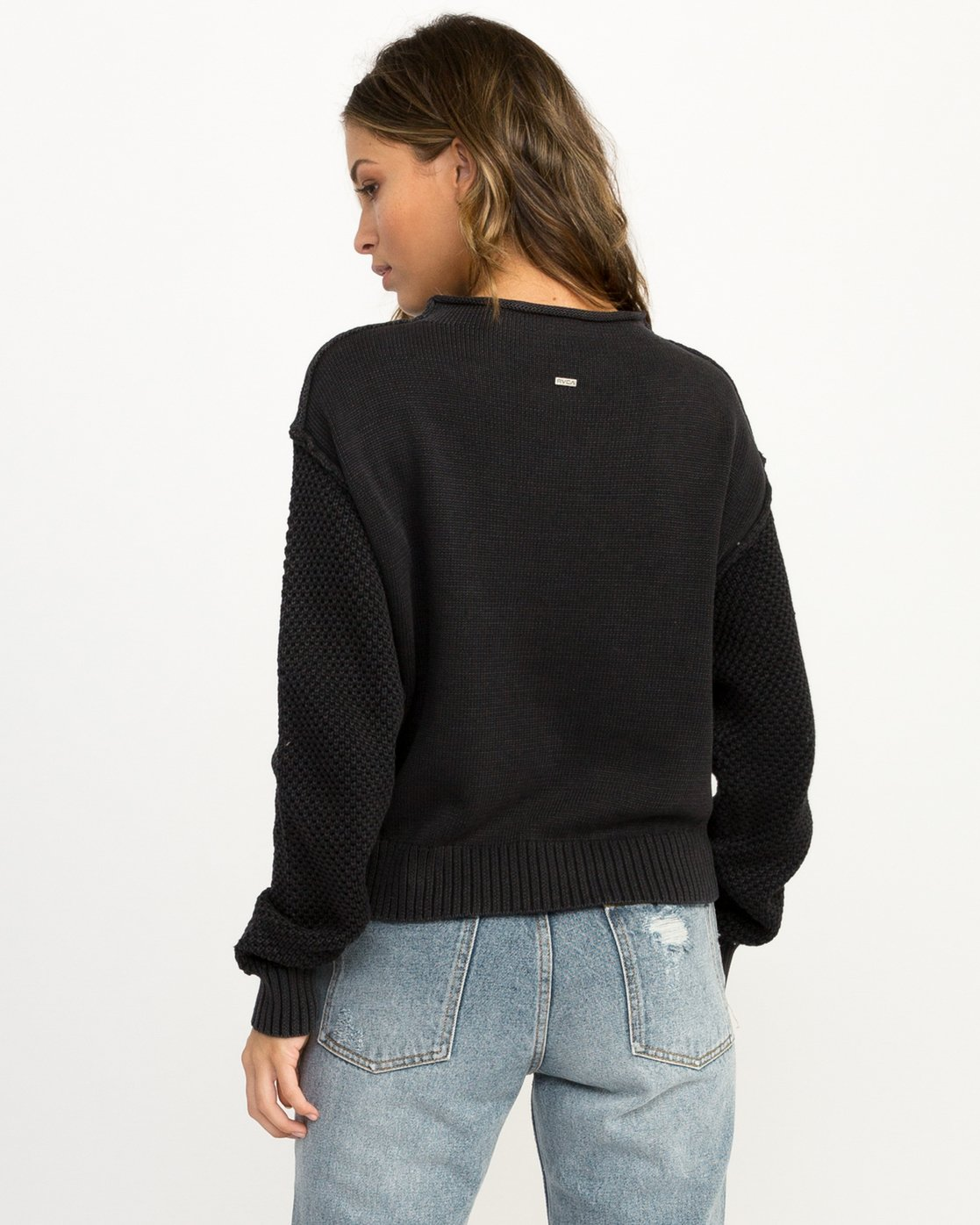 2 Exposed High Neck Sweater Black WV05QREX RVCA