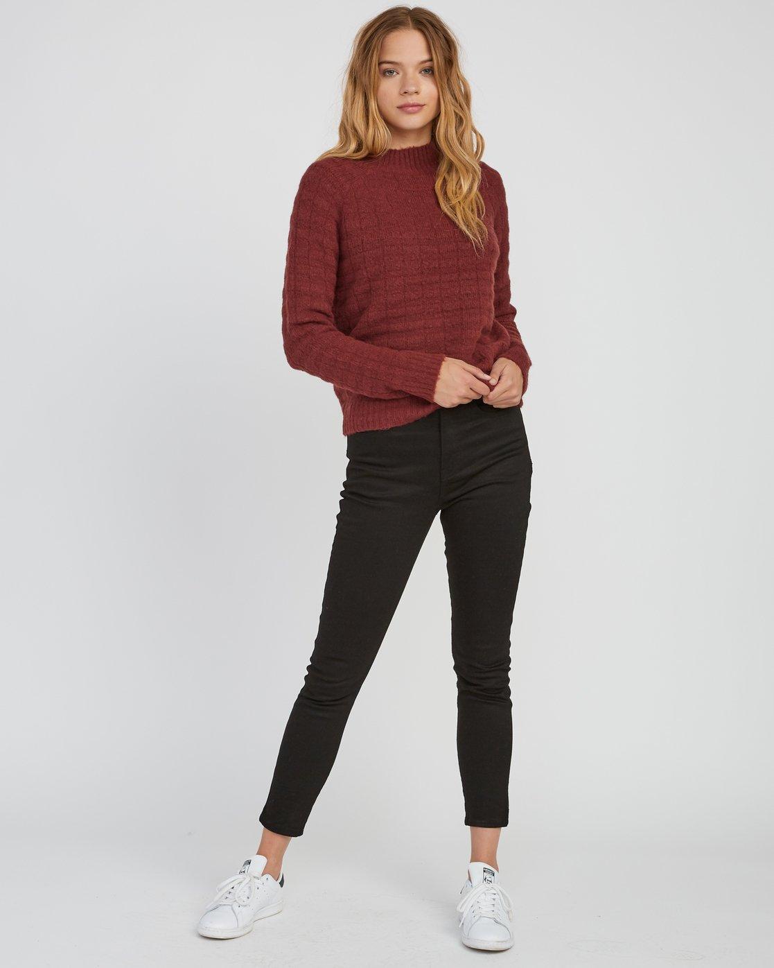 4 Mystars Knit Sweater Pink WV08SRMY RVCA