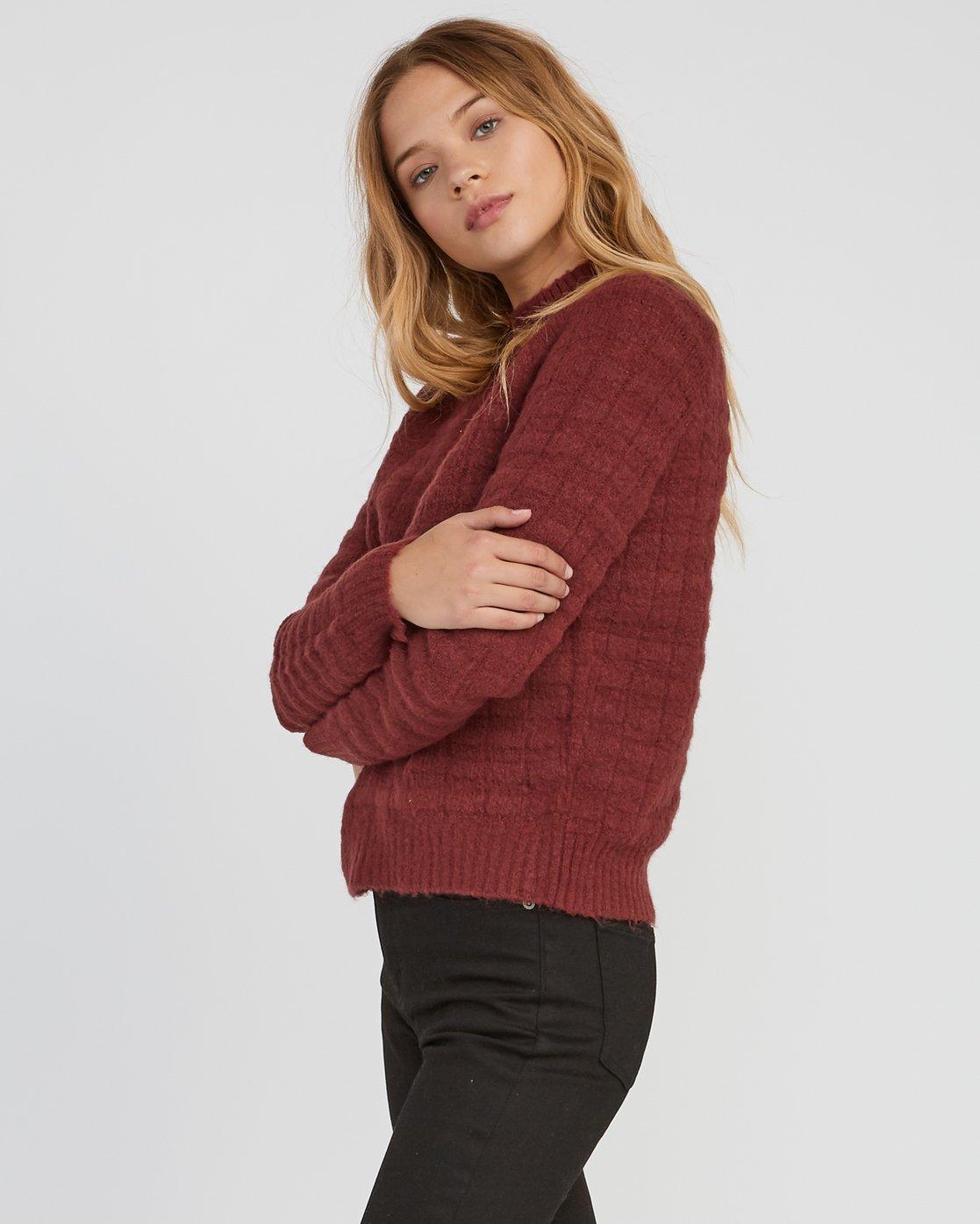 1 Mystars Knit Sweater Pink WV08SRMY RVCA
