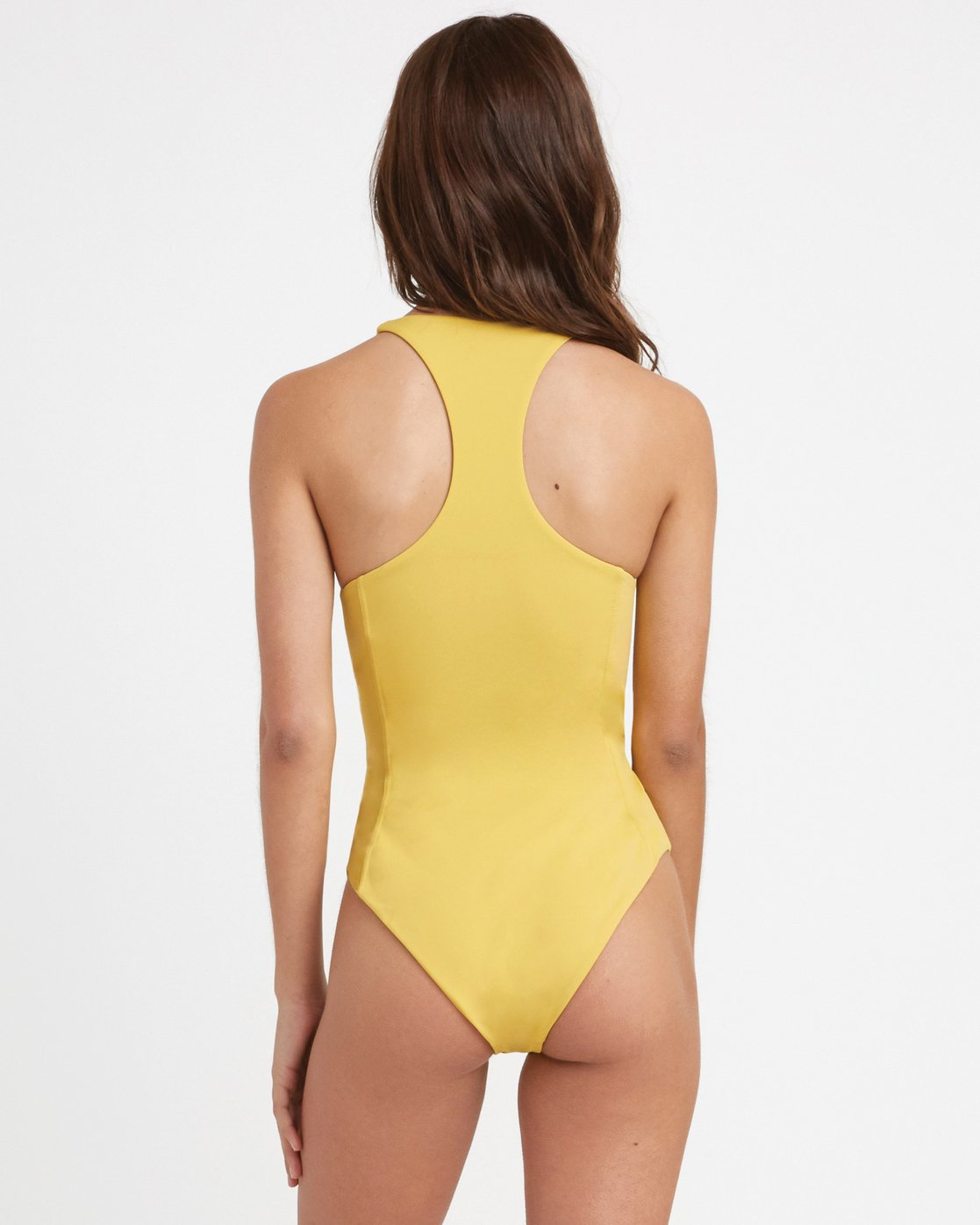 2 Solid Lace Front One Piece Swimsuit Yellow X101TRSO RVCA