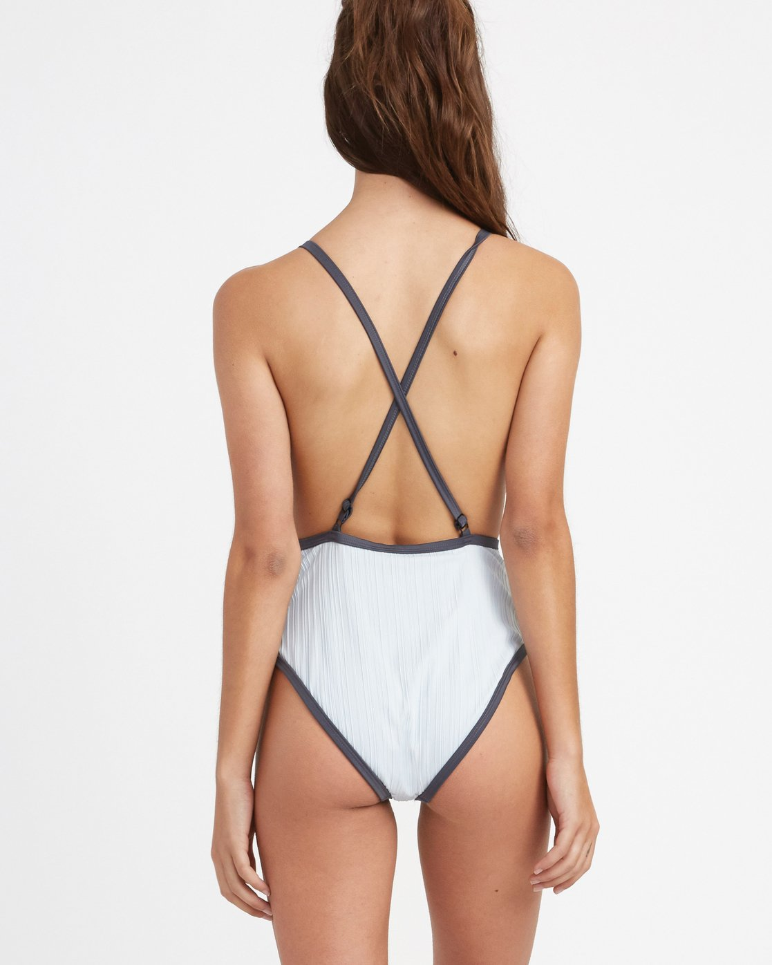 2 Linear Ribbed One Piece Swimsuit Blue X106TRLO RVCA