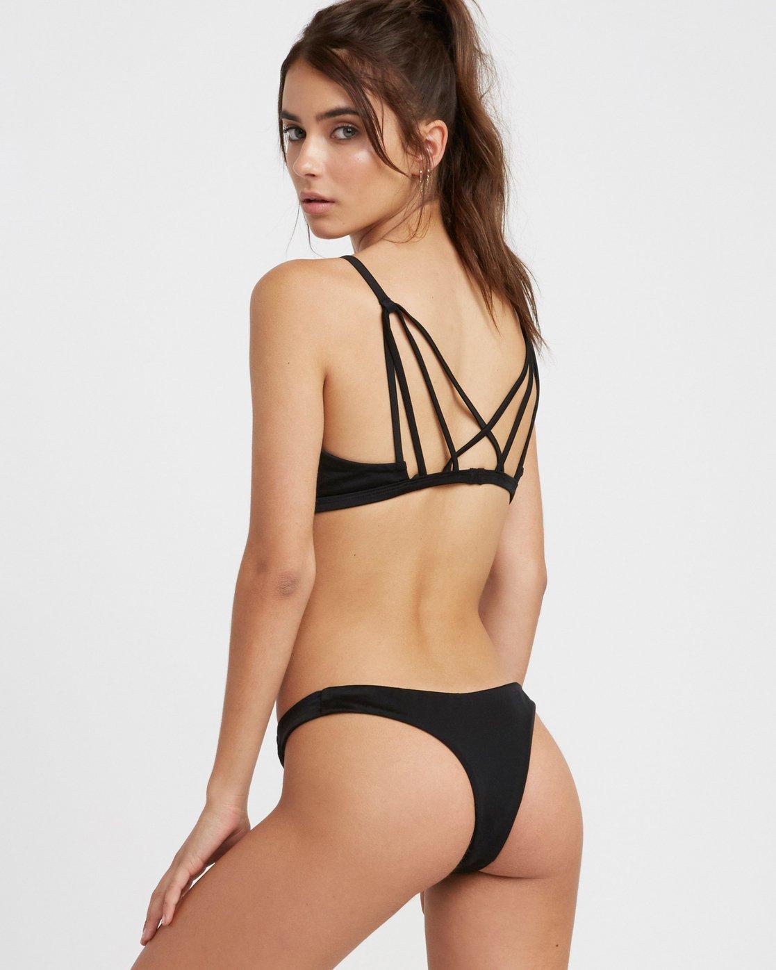 0 Solid Skimpy Bikini Bottom Black XB01TRSS RVCA