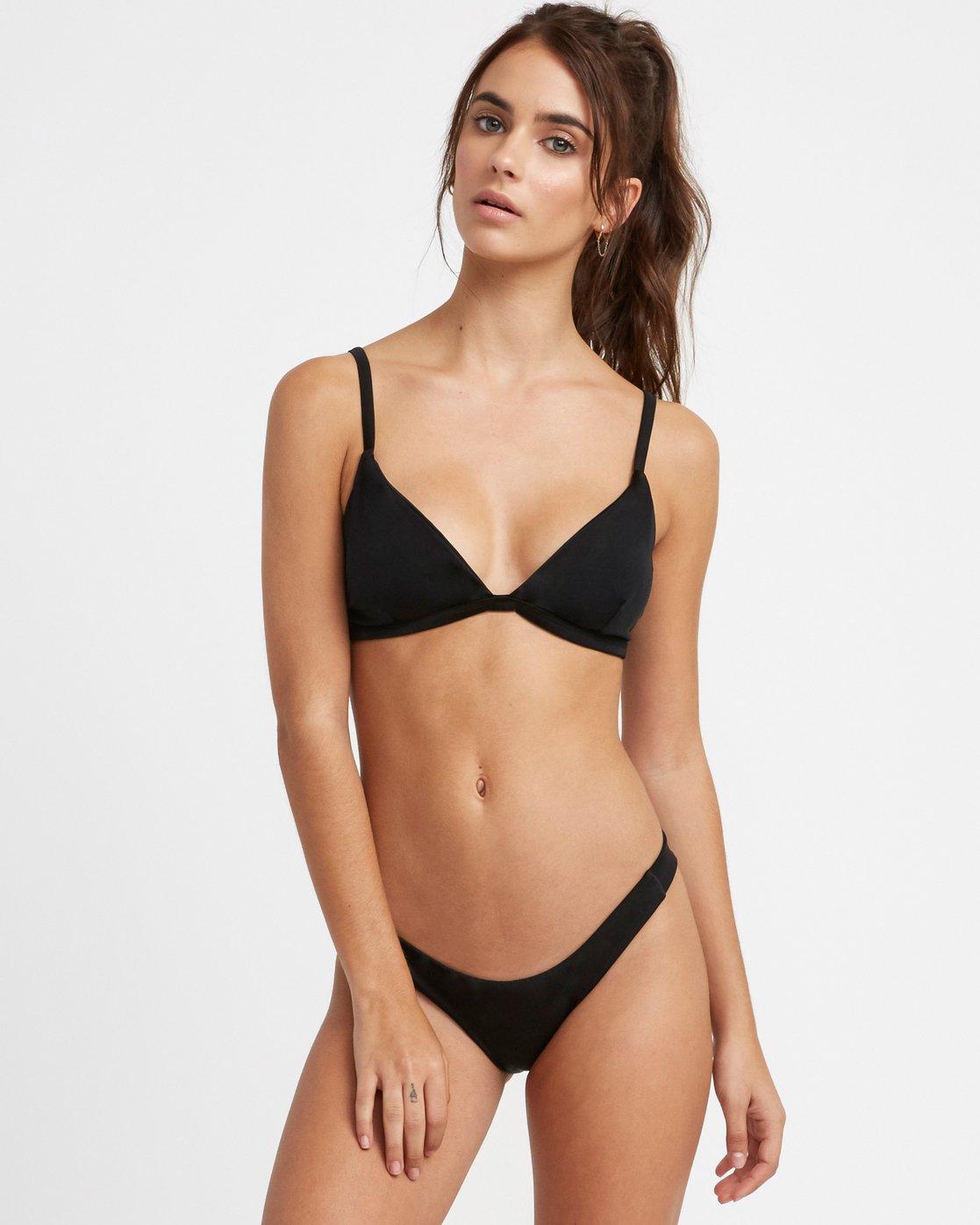 2 Solid Skimpy Bikini Bottom Black XB01TRSS RVCA