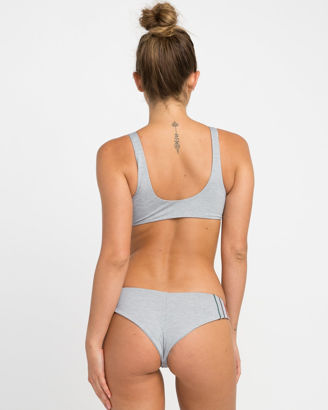 0 Pipeline Cheeky Bikini Bottoms Grey XB02NRPC RVCA