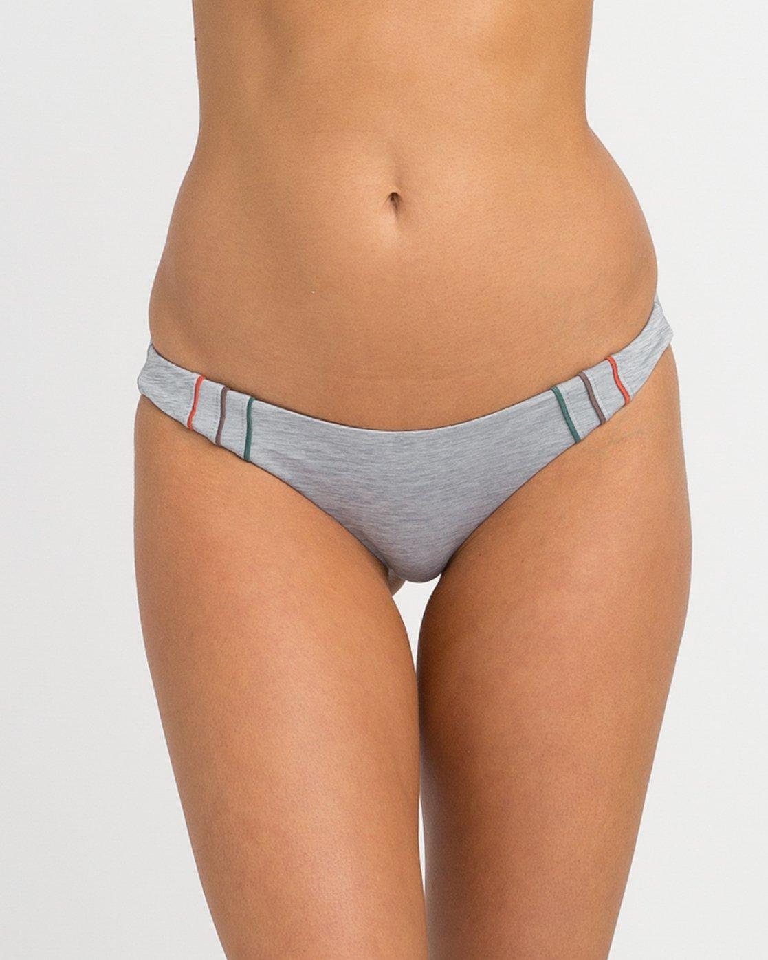 3 Pipeline Cheeky Bikini Bottoms Grey XB02NRPC RVCA