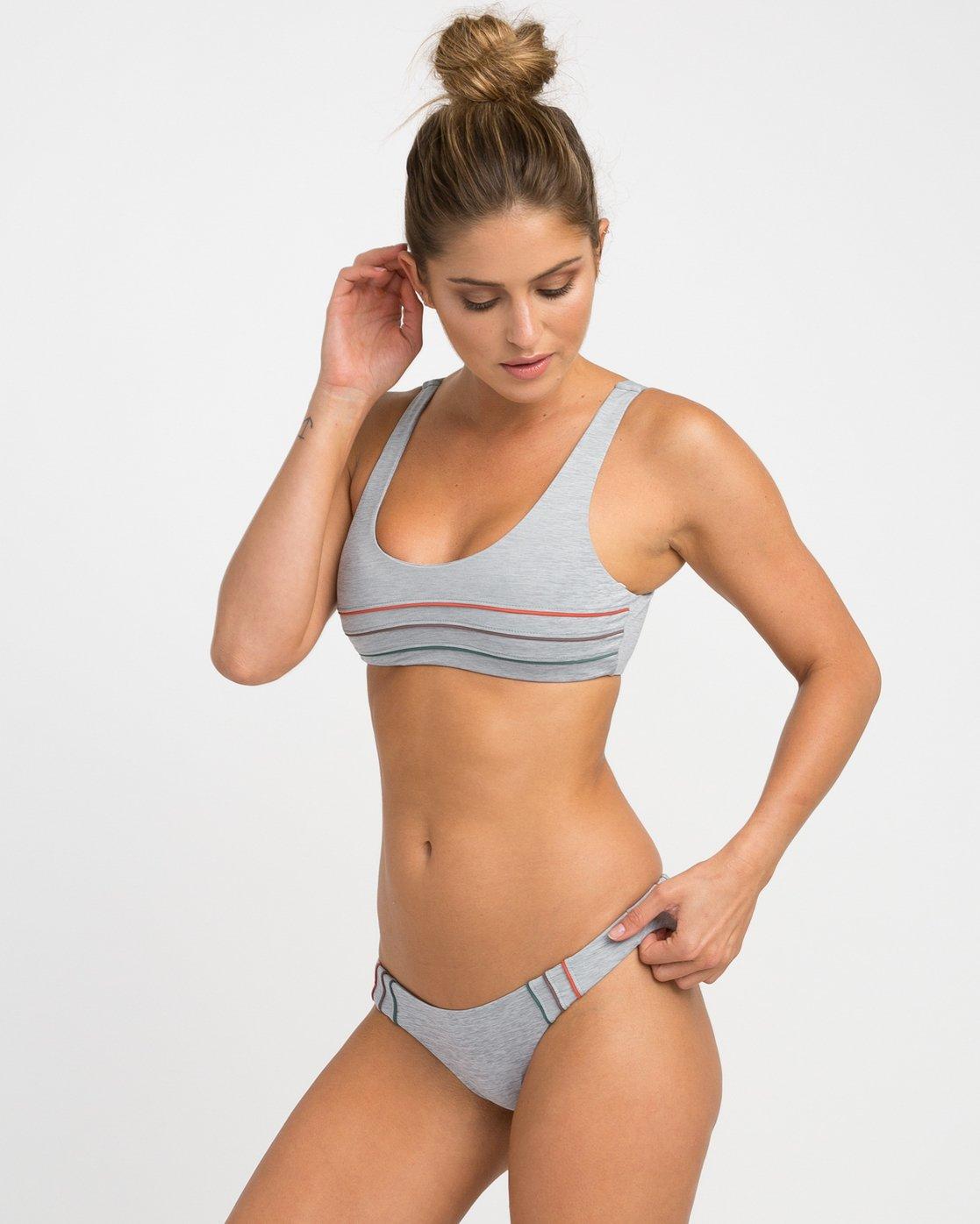 1 Pipeline Cheeky Bikini Bottoms Grey XB02NRPC RVCA