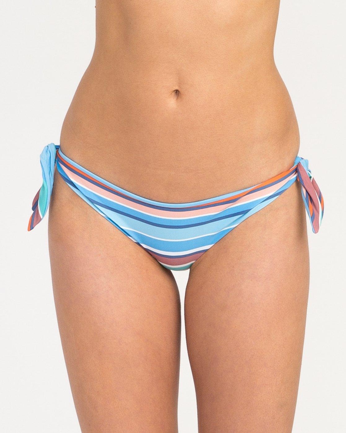 3 Horizon Reversible Stripe Cheeky Bikini Bottoms Blue XB04PRSC RVCA