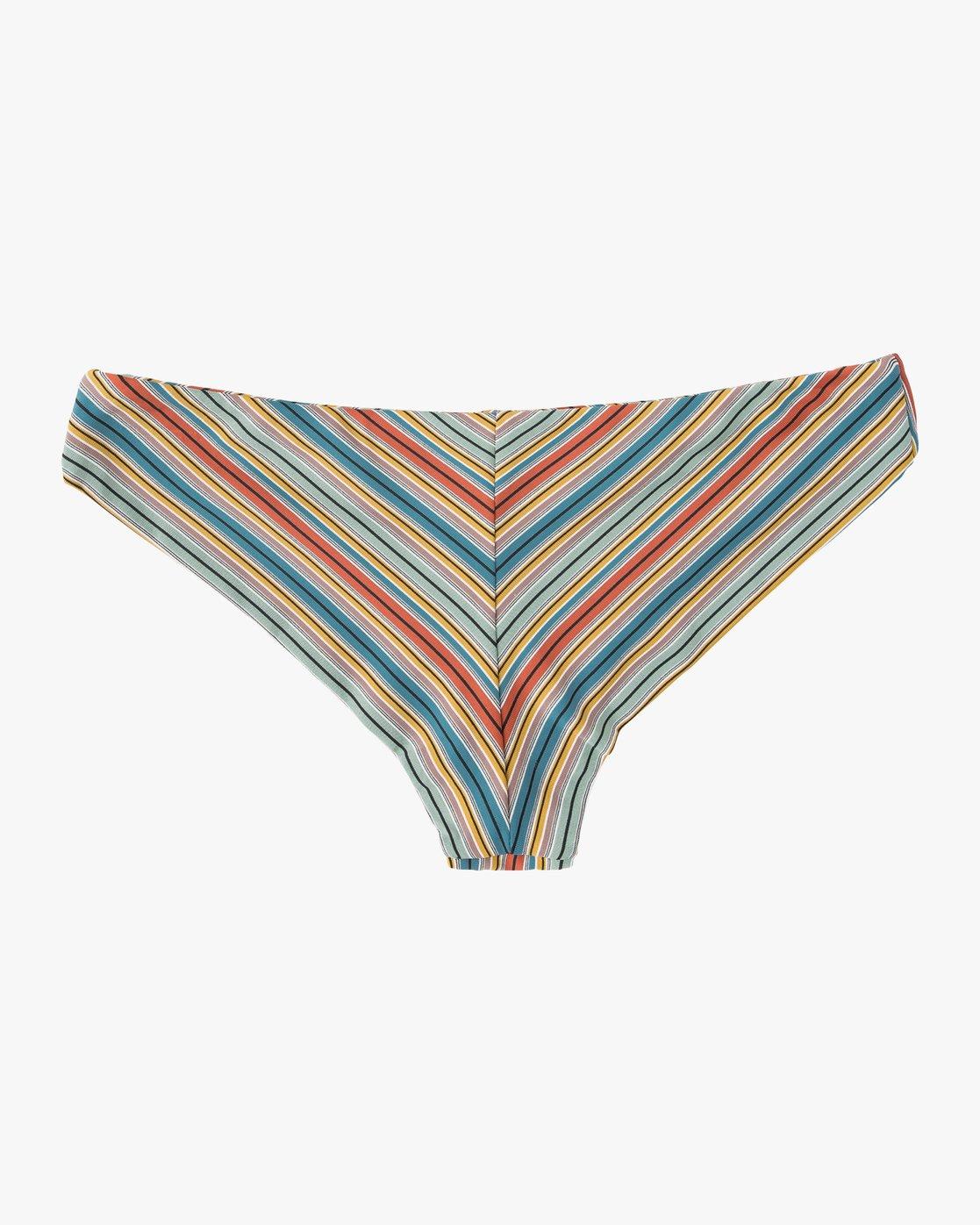 5 Sixteenth St Striped Cheeky Bikini Bottoms Multicolor XB06NRSC RVCA