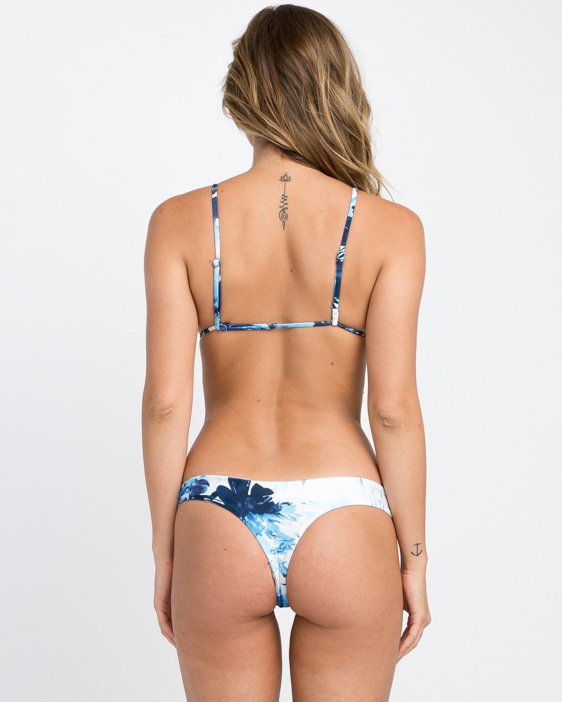 0 Paint Flower Isle Skimpy Bikini Bottom Blue XB18PRPI RVCA