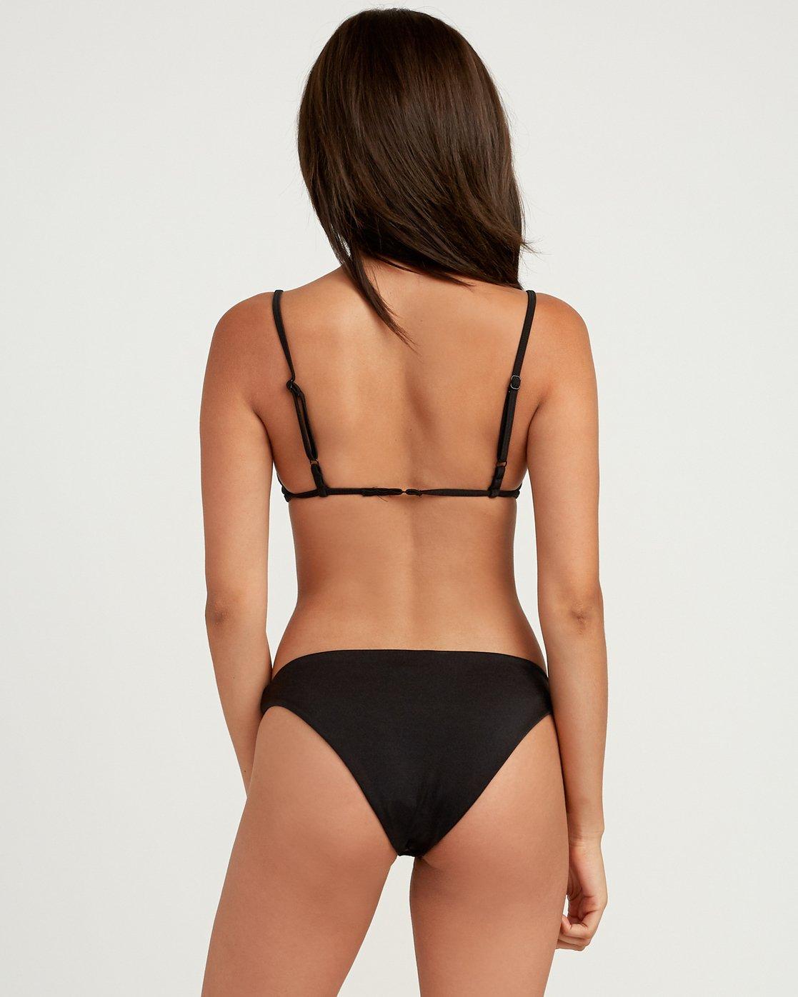 0 Solid Shimmer Medium Bikini Bottoms Black XB21QRSM RVCA