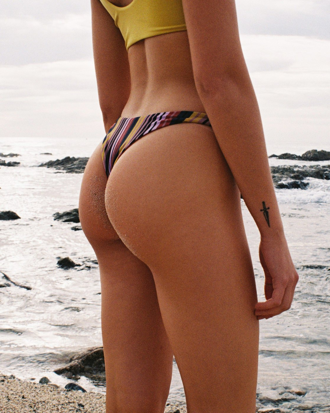 0 Talum Striped French Skimpy Bikini Bottoms Red XB22TRTS RVCA