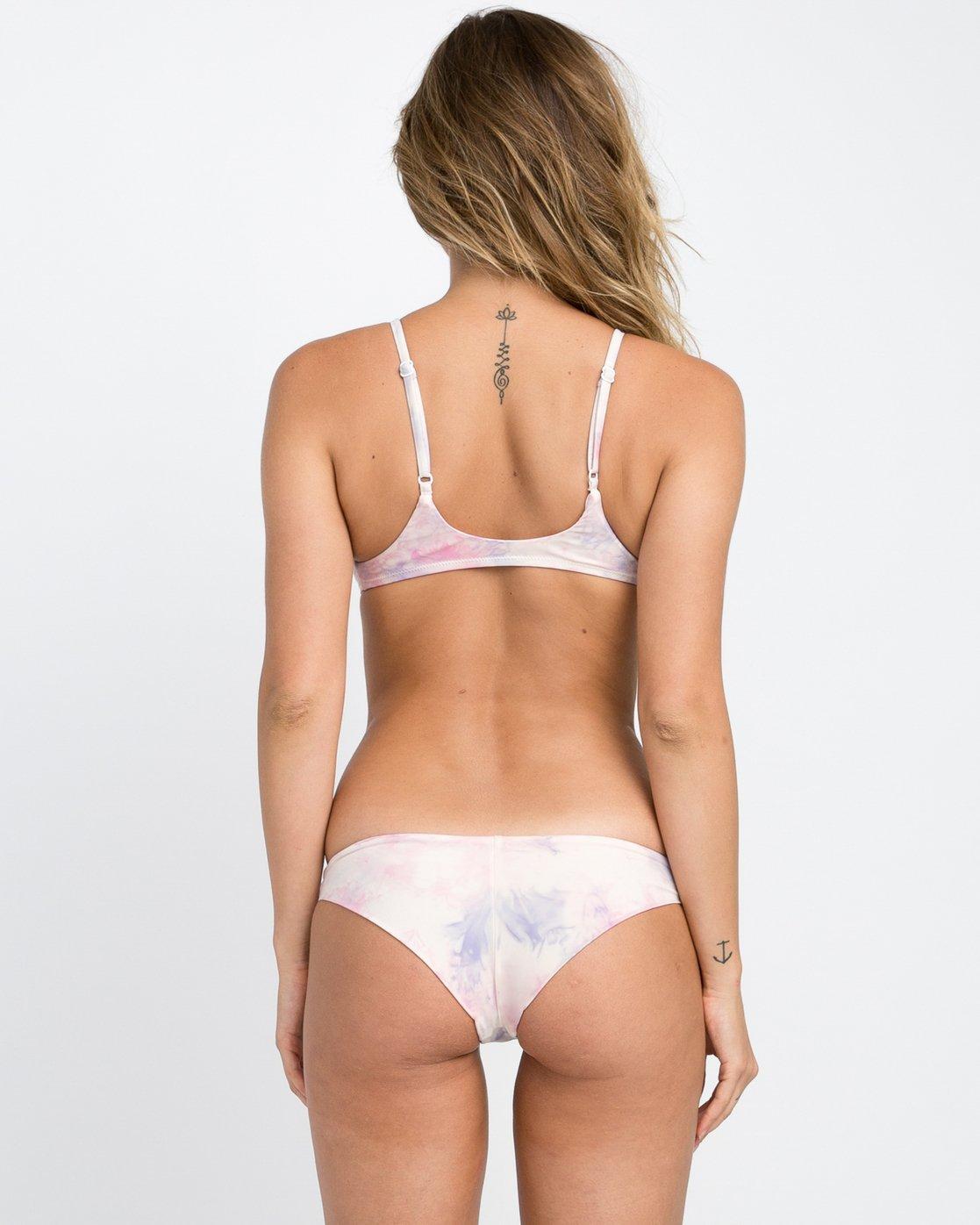 0 Crystal Tie Dye Cheeky Bikini Bottom White XB26PRCC RVCA