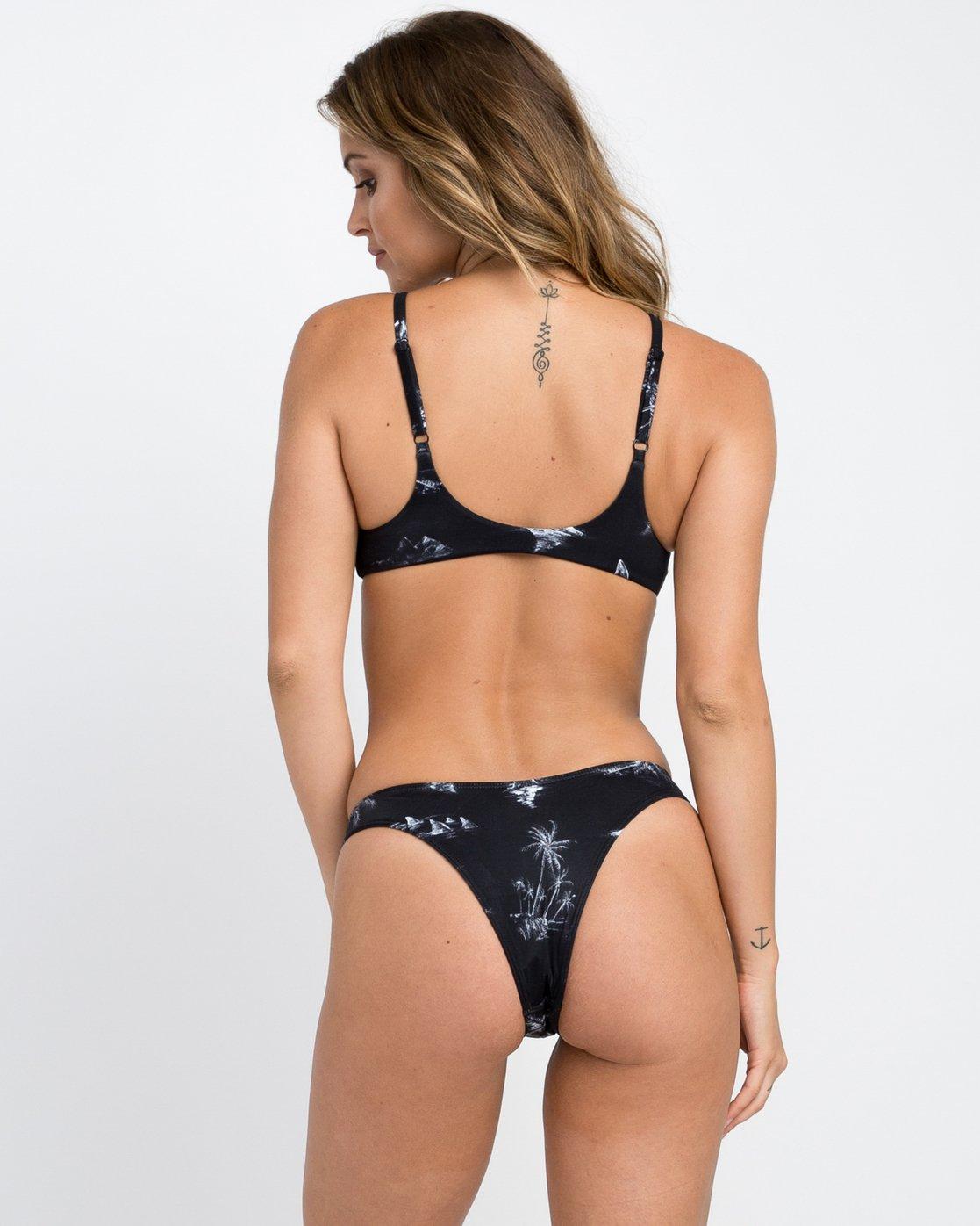 0 Danger Beach High Cut Bikini Bottom Black XB28PRHC RVCA