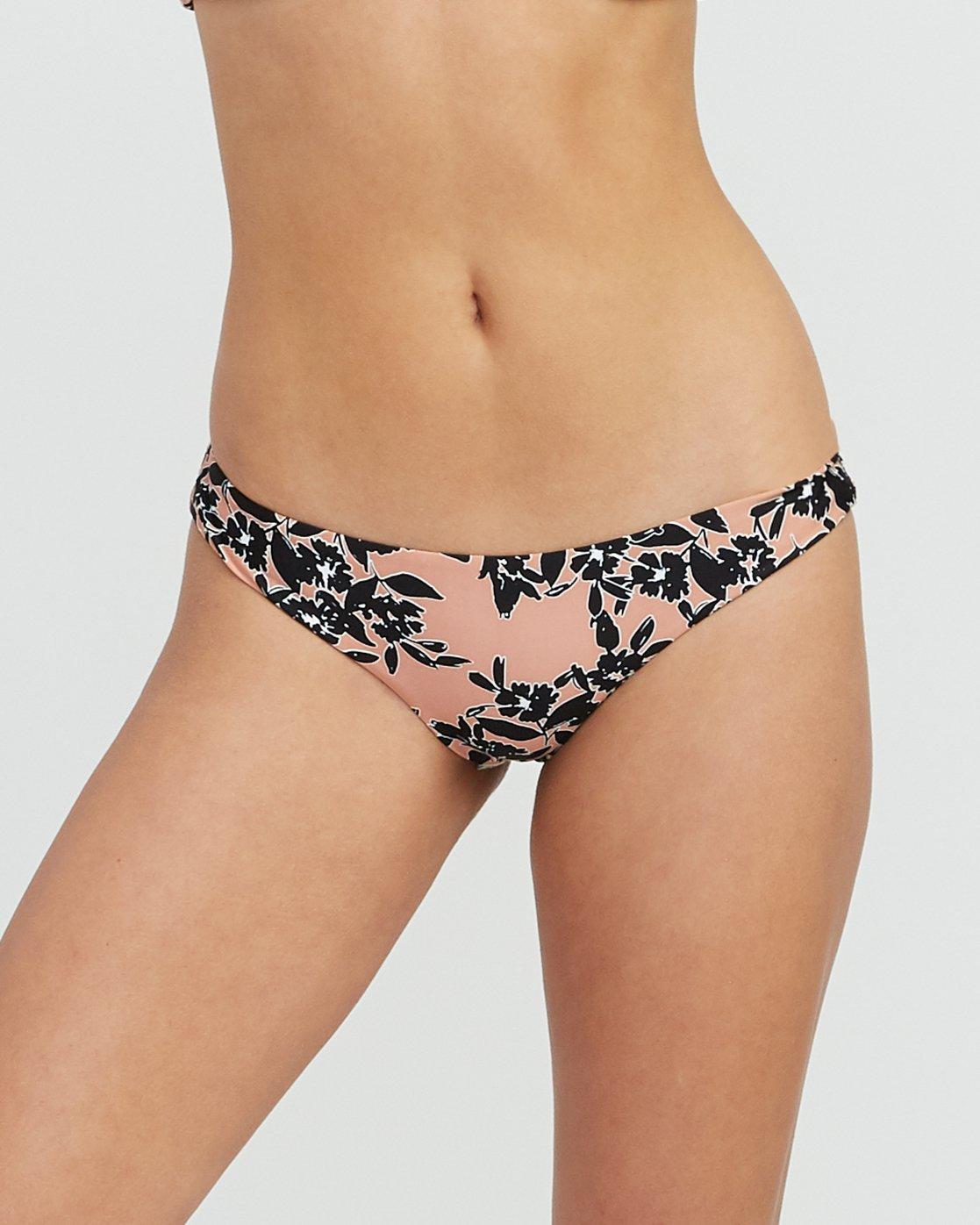 3 Isla Floral Cheeky Bikini Bottoms Beige XB31SRIF RVCA