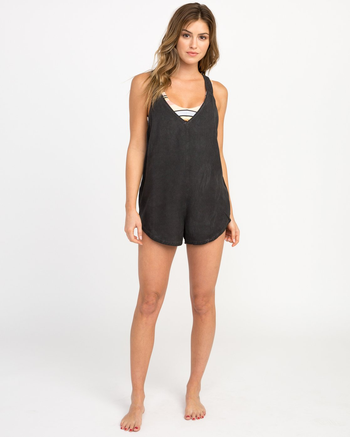 4 Itemized Pigment Romper Black XC04NRIT RVCA