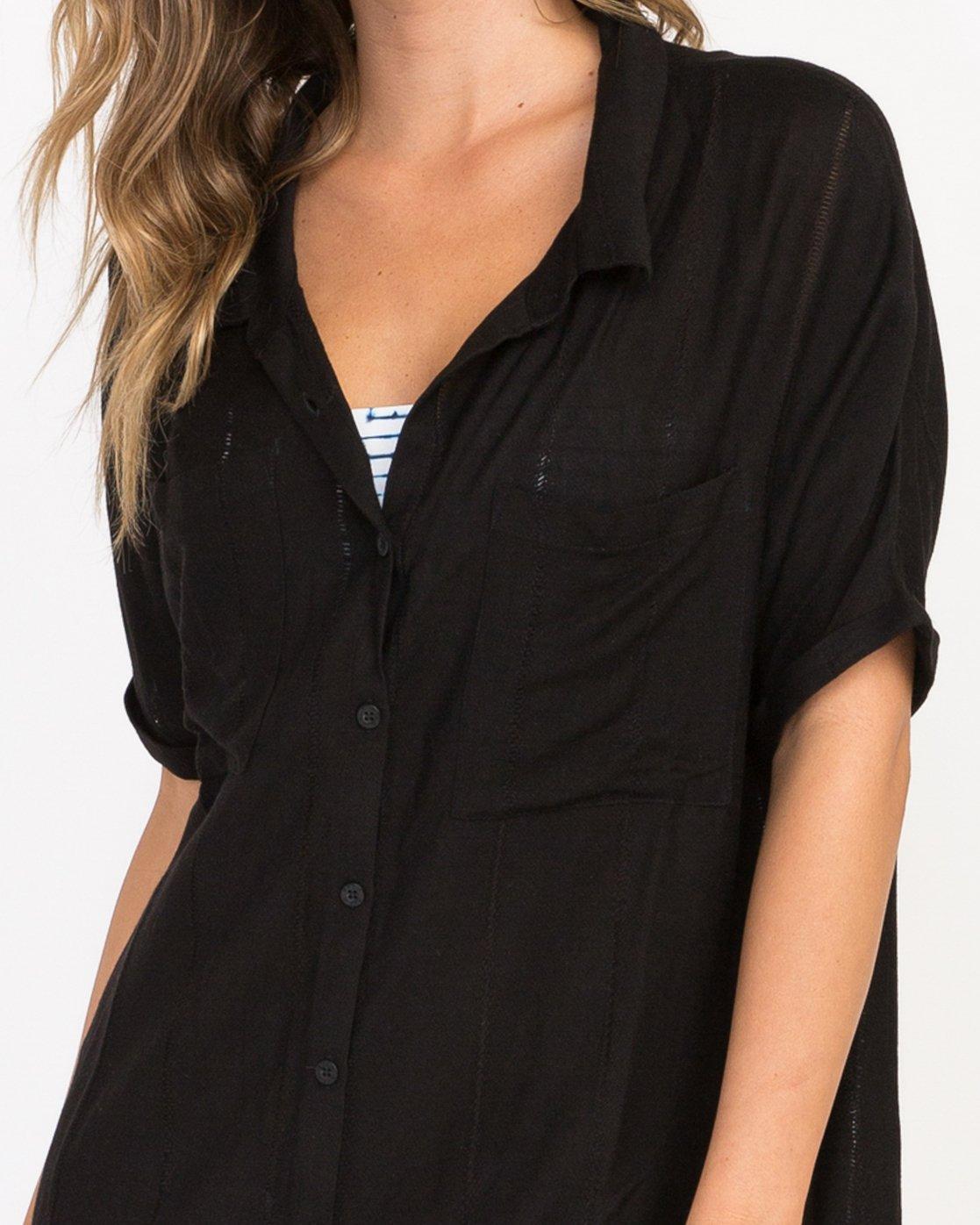 3 And Then Tunic Shirt Dress Black XC05PRAN RVCA