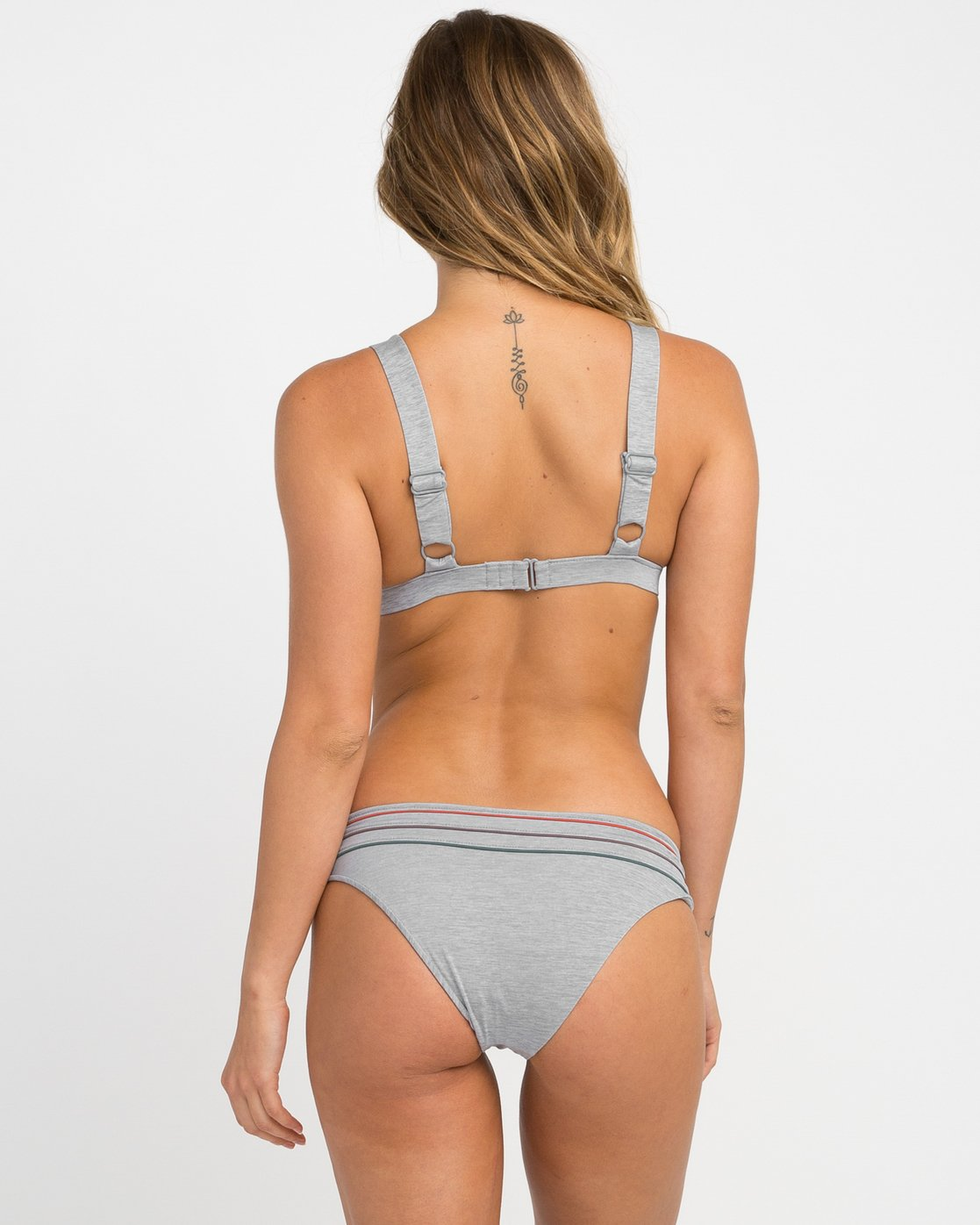 2 Pipeline Triangle Bikini Top Grey XT02NRPT RVCA