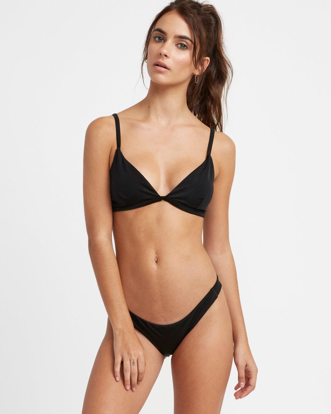 0 Solid Bralette Bikini Top Black XT03TRSB RVCA
