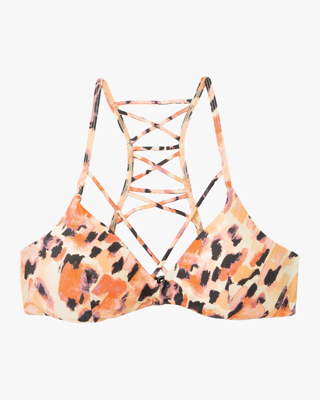 5 Water Color Leo Reversible Bralette Bikini Top Multicolor XT08PRLB RVCA