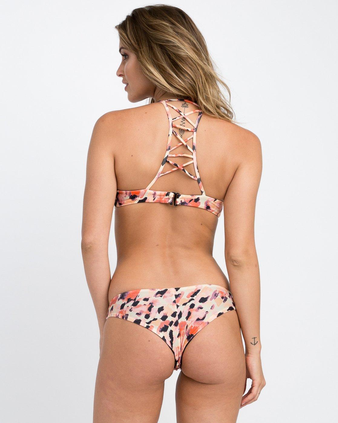 2 Water Color Leo Reversible Bralette Bikini Top Multicolor XT08PRLB RVCA