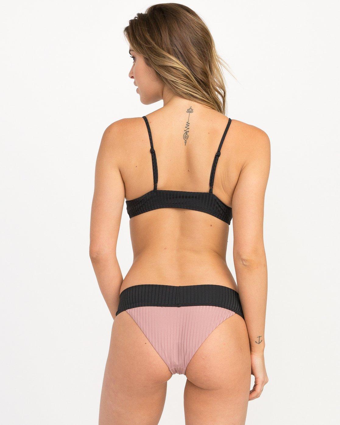 2 Rockaway Ribbed Triangle Bikini Top Pink XT08QRRT RVCA