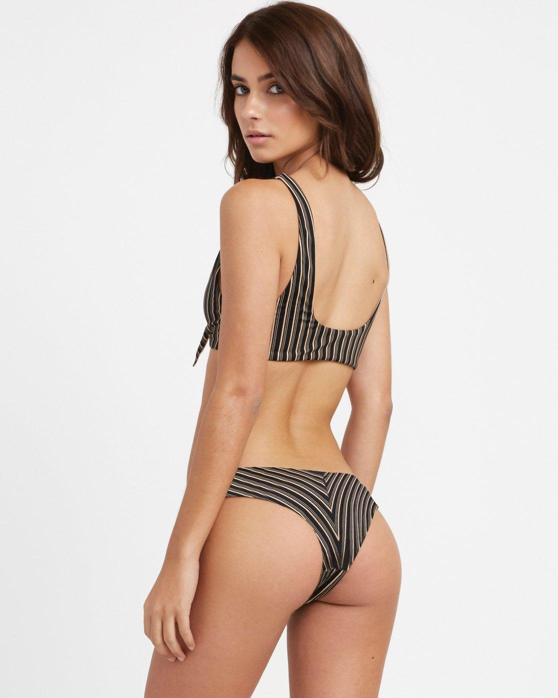1 Amalfi Tie Front Bikini Top Black XT09TRAT RVCA