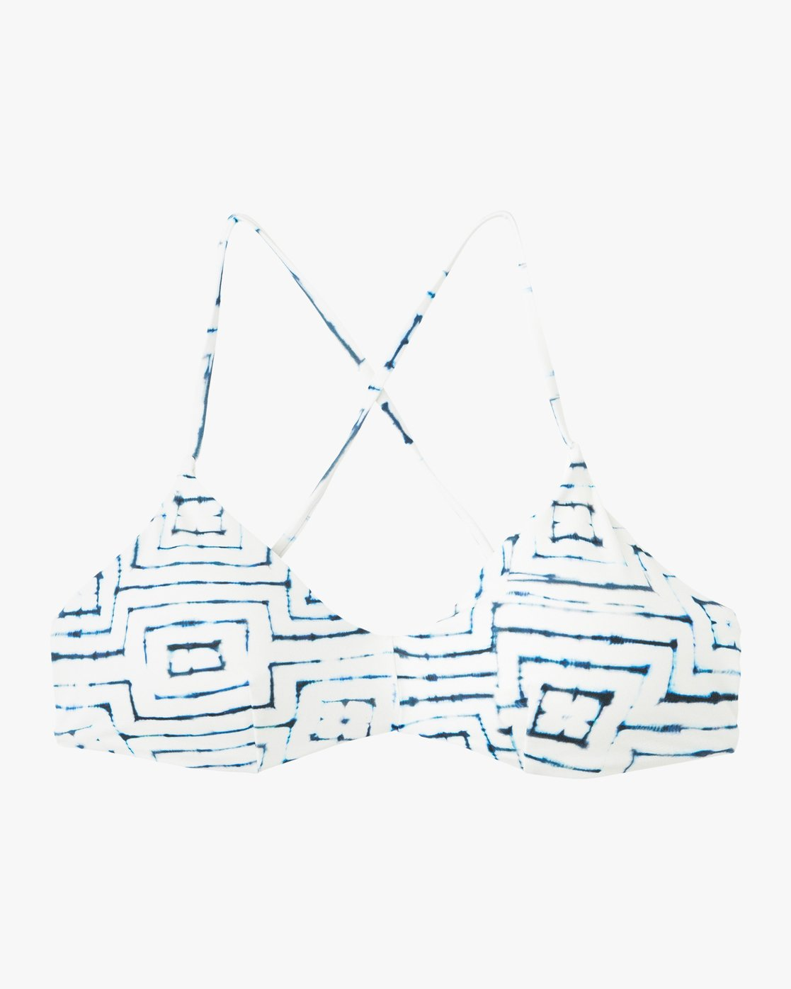 5 Tie Dye Tile Crossback Bikini Top White XT17PRTC RVCA