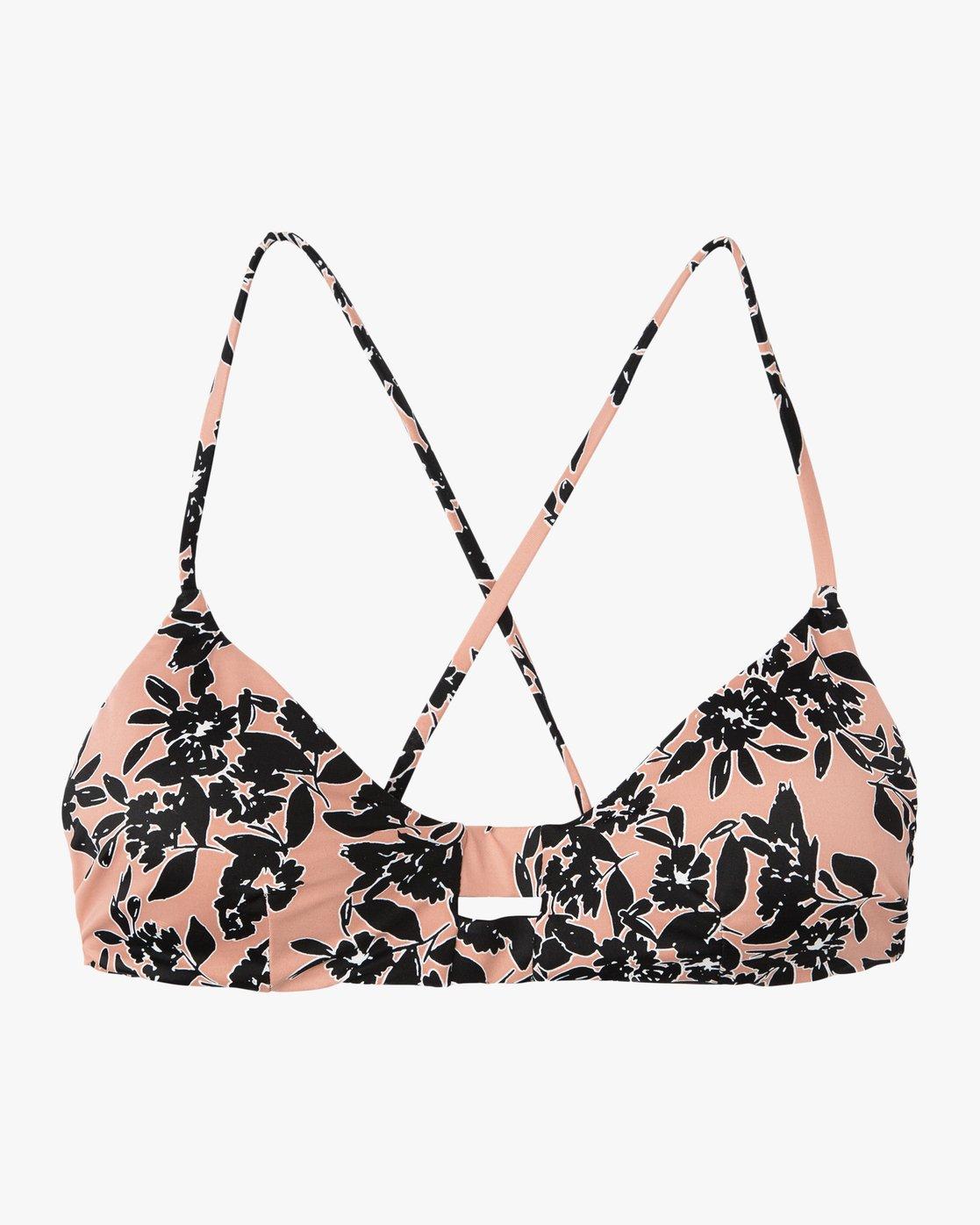 5 Isla Floral Crossback Bikini Top Beige XT30SRIF RVCA