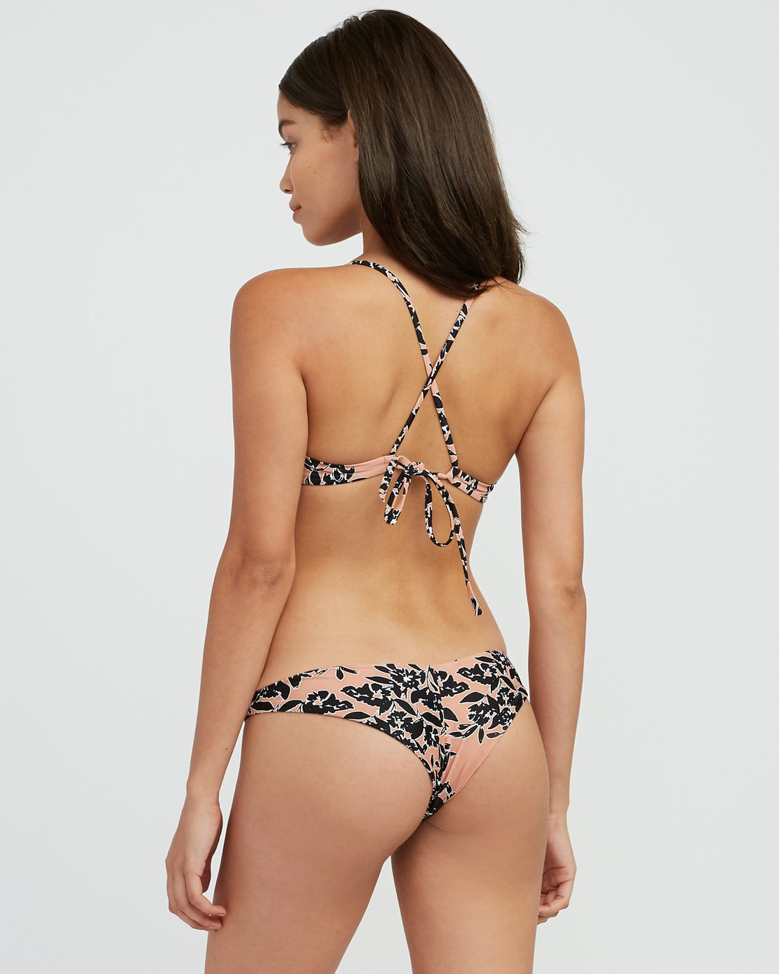 2 Isla Floral Crossback Bikini Top Beige XT30SRIF RVCA