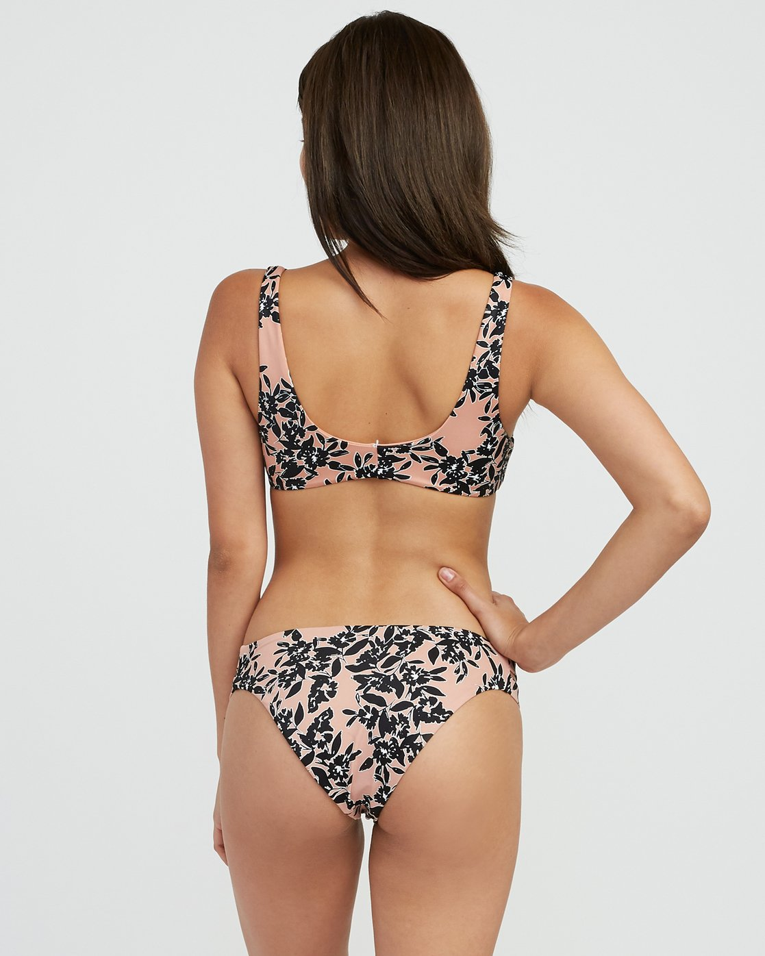 2 Isla Floral Knotted Bikini Tank Top Beige XT32SRIF RVCA