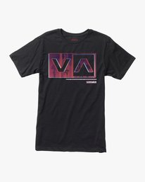 0 Boy's Riso Box T-Shirt Black B401SRRI RVCA