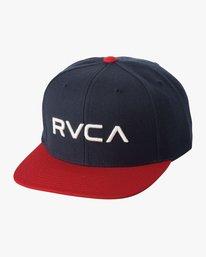 0 Boy's RVCA Twill Snapback III Hat Blue BAAHWRTS RVCA