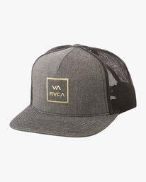 0 Boy's VA All The Way Trucker Hat Grey BAAHWVAA RVCA