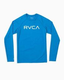 0 Boy's RVCA Long Sleeve Rashguard Blue BR11TRLR RVCA