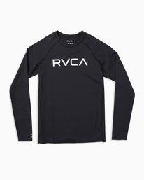 0 Boy's RVCA Long Sleeve Rashguard Black BR11TRLR RVCA