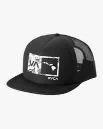 0 Islands Balance Box Foam Trucker Hat Black MAHWMRIB RVCA