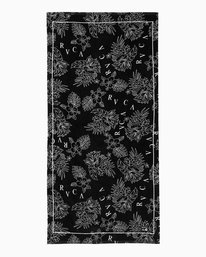 0 Tristan Ceddia Flowers Beach Towel Black MATWTRCF RVCA