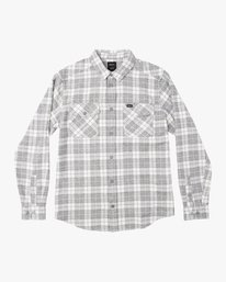 0 That'll Work Flannel Long Sleeve Shirt White MG519TWF RVCA
