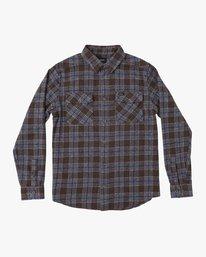 0 That'll Work Flannel Long Sleeve Shirt Brown MG519TWF RVCA