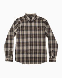 0 Bone Flannel Long Sleeve Shirt  MM501BON RVCA
