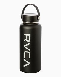 0 Hydroflask 32 Oz Wide Mouth Water Bottle Black UXAMCRH3 RVCA