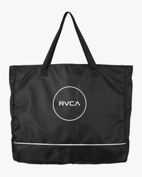 0 Classic Logo Beach Tote Bag Black WABGMRCL RVCA