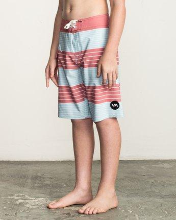 2 Boy's Uncivil Stripe Trunk Brown B162TRUN RVCA