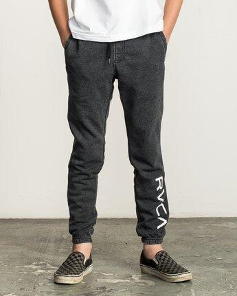 0 Boy's VA Guard Fleece Sweatpant Black B301QRGU RVCA