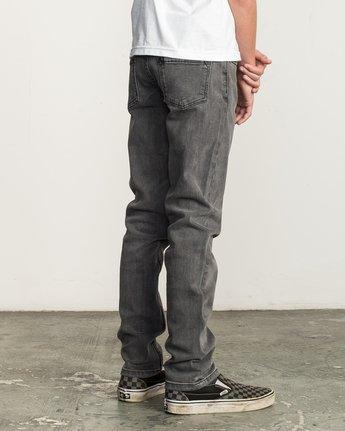 4 Boy's Daggers Denim Jeans Grey B302QRDA RVCA