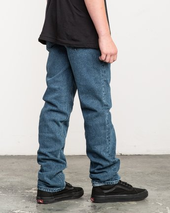 4 Boy's Daggers Denim Jeans Blue B303QRDA RVCA